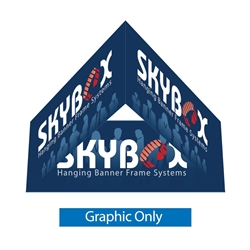 5ft Skybox Triangle Hanging Banner 24in Inside & Outside Graphic Only (Double Sided) is a must have at your next trade show. These extra large hanging banners are produced from high quality fabric and enable you to been seen from practically anywhere