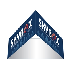 Skybox Triangle 8ft x32in & Hanging Tension Fabric Banner (Single Sided) is a must have at your next trade show. These extra large hanging banners are produced from high quality fabric and enable you to been seen from practically anywhere