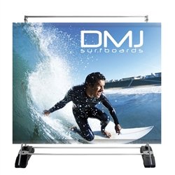 8ft x8in Outdoor Banner Wall Portable Billboard Bannerstand Single Sided Graphic Package is  indoor outdoor billboard that can be used for single and double sided presentation. Graphic area of 8ft wide x 8ft high (weather and wind conditions permitting).