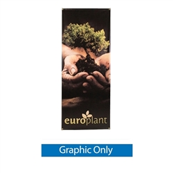 27.5in x 69in Zeppy outdoor banner stand display has both stability and looks. It is adjustable in both width and height to allow multiple graphic sizes, and has a large base that can be filled with either water or sand. Price includes stand hardware.