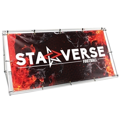7ft Foundation Outdoor A-Frame Banner Stand (1 banner) is a versatile way to display messages at sporting or other events when they need to stand out in a crowd. Designed to hold a single or double banner. Banners easily mount to both sides of the frame