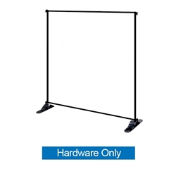 "Jumbo Banner Stand Small Tube Stand Only. This particular selection has smaller tubes that measure 1 1/8"""" in diameter and connect together on all four sides. The fabric graphic slides onto the top and bottom cross bars, and displays tautly"