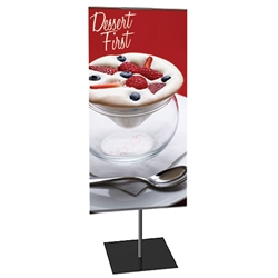 12in x 42in Classic Banner Stand Small Single-Sided Graphic Package. We offers a full line of trade show displays, pop up booths, banner stands, table top displays, banner stands, hanging banners, signs, molded shipping cases, counters and podiums.