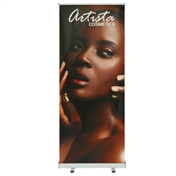 33.5 in. Mozzie Roll Up - 80inh Super Flat Vinyl Retractable Banner Stand. This  Retractable Banner Stand Display has a unique look at an affordable price.