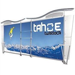 20ft Tahoe Twistlock Z Modular Backwall Display Graphic Package. Twistlock Tahoe is a modular backwall display booth is fully customizable. Twistlock Tahoe Modular Display Portable System is available in number of configurations- perfect backwall display