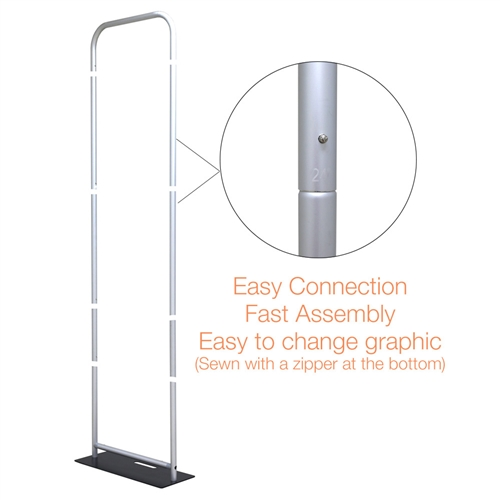 60in x 126in EZ Tube Extend Backwall Banner Stand Display Frame Only. Banner stands look great as an addition to portable display or exhibit. EZ EXTEND Fabric banner stands are perfect for displaying at any trade show or event.