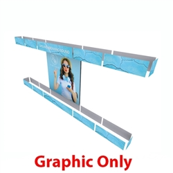 10ft x 20ft Alpine Merchandiser Booth F Graphic Only. Alpine Merchandiser Booths with SEG Fabric can be use in  Retail Stores, Trade Shows, Showrooms. Great for 10ftx20ft booths.