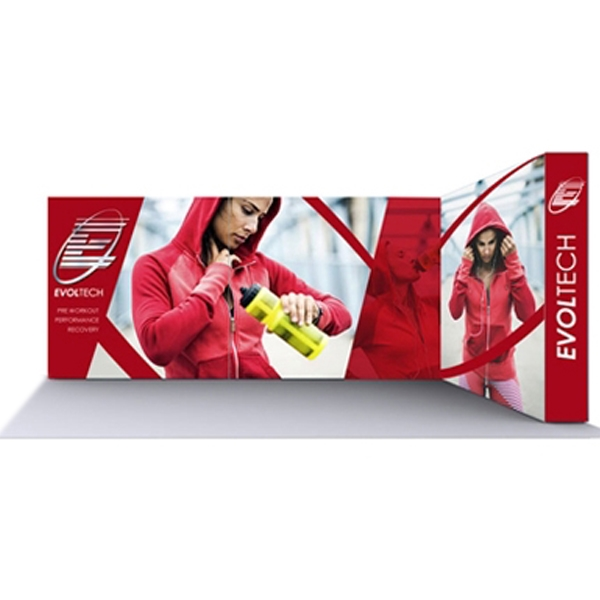 Lumiere Light Wall Configuration G - Backlit(Graphic Package). A combination of innovative silicone-edge graphics and RPL fabric pop ups offers an easier and more cost effective SEG option.