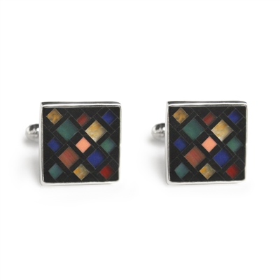 Square 70's Mosaic Inlay