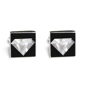 Diamonds Inlay Cufflinks