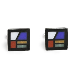 Square Window Inlay Cufflinks