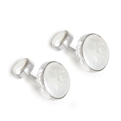 Double Coin Pearl Cufflinks + MORE COLORS