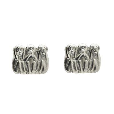 Hear No Evil, See No Evil, Speak No Evil Cufflinks