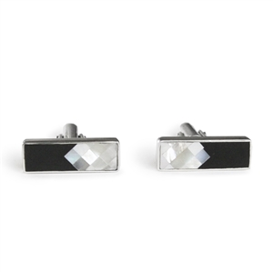 Black Onyx and Mother of Pearl Diamonds Cufflinks