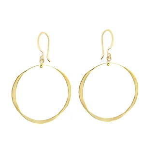 Simple Hammered Hoop Earrings in 14K Gold Filled + SIZES