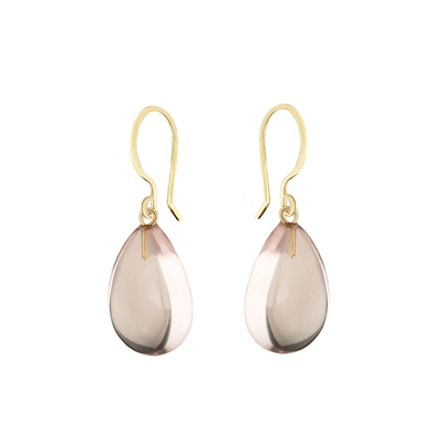 Olivia Gemstone Earrings in 14k Gold filled. Shown in natural Rose Quartz.