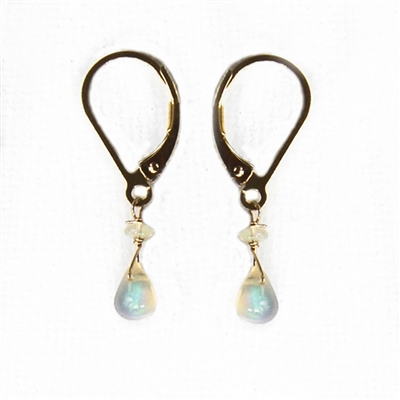 Ethiopian Opal and 14k Gold Filled Earrings