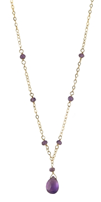 Forever Beads and Briolette Necklace Gold Filled + MORE COLORS