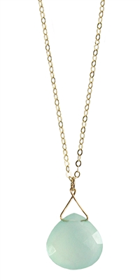 Large Twinkling Teardrop Necklace in Gold Filled + More Colors