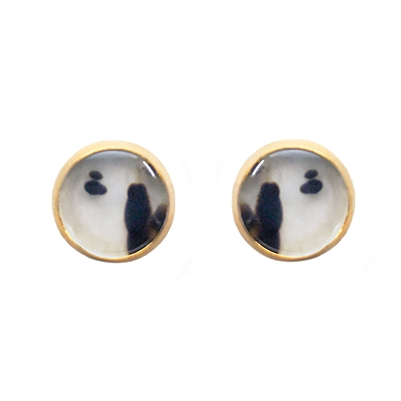 Bezel Set 14k Gold Filled Stud Earrings in 10 MM
