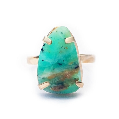 Cusco Peruvian Opal Ring in 14k Gold filled