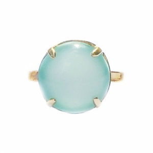 Pillow Ring in Chalcedony and 14k GF or Sterling