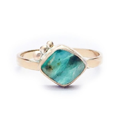 Orion Peruvian Opal Ring in 14k Gold filled
