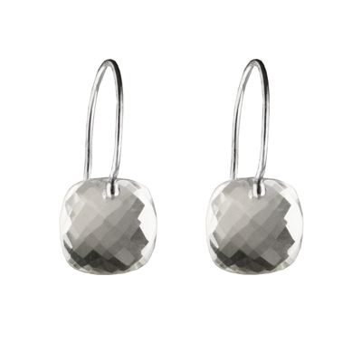 Dazzling faceted cushion earrings + MORE COLORS