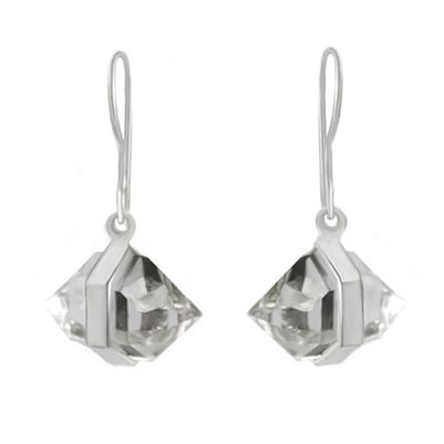 Large Herkimer Diamond Earrings