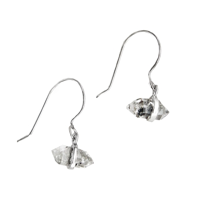 Tiny Herkimer Diamond Earrings