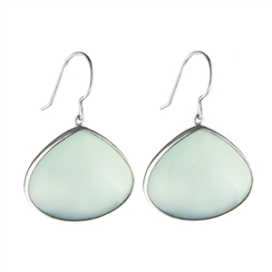 Large Chalcedony Earrings