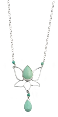 Lotus Flower Necklace + MORE COLORS
