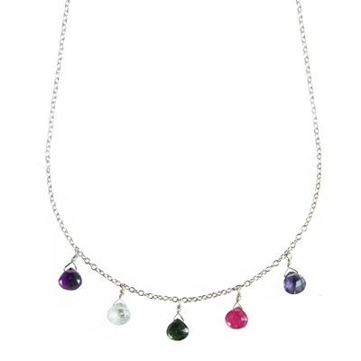 Rainbow Briolette Necklace + MORE COLORS
