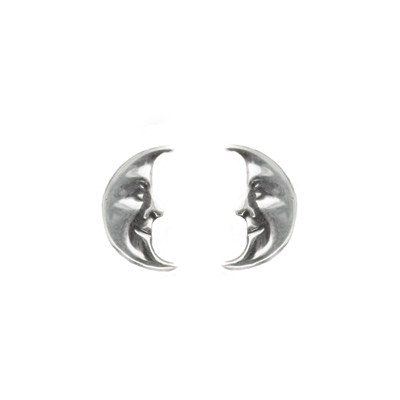 Tiny Crescent Moon Post Earrings