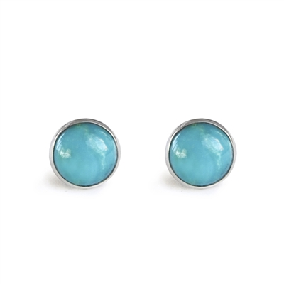 6mm Stone Bezel Post Earring + MORE COLORS