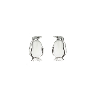 Penguin Post Earrings