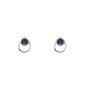 Tiny Teardrop Gemstone Stud Earrings + MORE COLORS