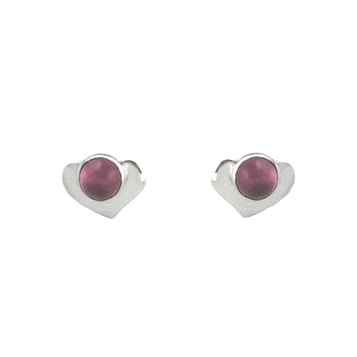 Tiny Heart Gemstone Stud Earrings + MORE COLORS