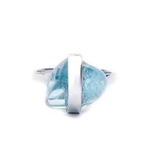 Aquamarine Candy Ring by Great Falls Jewelry