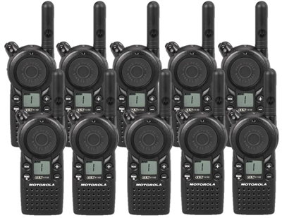 Motorola CLS1110 10 Pack Two Way Radio Bundle