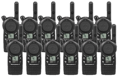 Motorola CLS1410 UHF Two Way Radio 12 Pack Bundle