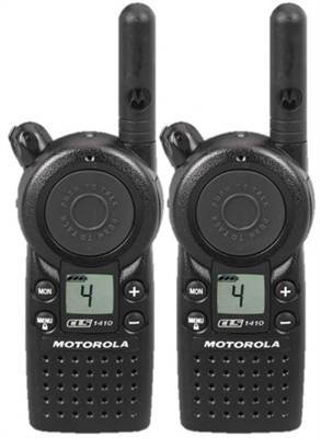 Motorola CLS1410 Two Way Radio 2 Pack Bundle