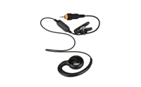 Motorola HKLN4437A CLP Short Cord Swivel Earpiece with Inline PTT