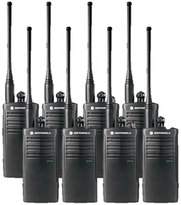 Motorola RDU4100 8 Pack Two Way Radio Bundle