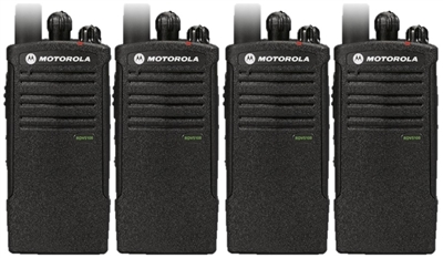 Motorola RDV5100 4 Pack Two Way Radio Bundle