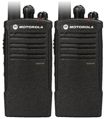 Motorola RDV5100 2 Pack Two Way Radio Bundle