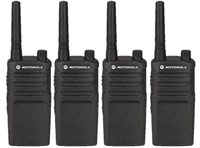 Motorola RMM2050 4 Pack Two Way Radio Bundle