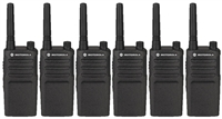 Motorola RMU2040 Two Way Radio 6 Pack Bundle