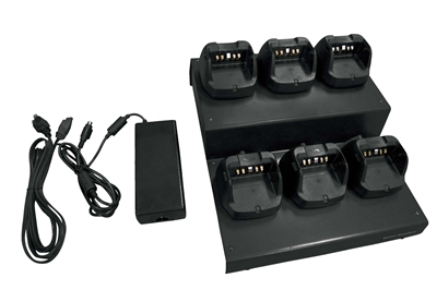 VAC-6450B Six-Unit Charger for use with VX-450 Series