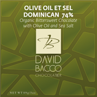 74% OLIVE OIL ET SEL - D.R - ORGANIC BITTERSWEET CHOCOLATE